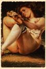Женщина с белыми чулками