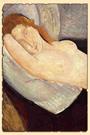 Лежащая обнаженная с головой на правой руке