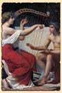 Каллиопа учит Орфея